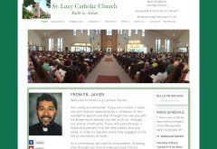 St Lucy Catholic Church Front Page Image